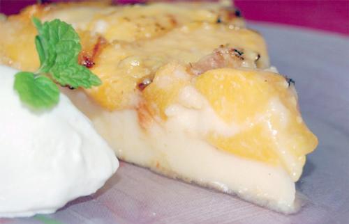 Tarta de yogur griego con nectarinas - Masiá Ciscar