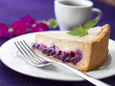 Tarta de café y arándanos - Masiá Ciscar