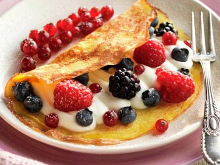 Tortitas con Berries - Masiá Ciscar